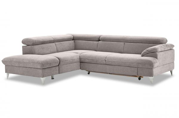 Cotta Ecksofa XL David links - wahlweise mit Schlaffunktion
