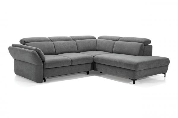 Ecksofa XL Merano rechts - mit Schlaffunktion - Grau