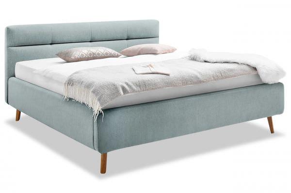 Meise Möbel Polsterbett Bettgestell Lotte - mit Lattenrosten und Bettkasten