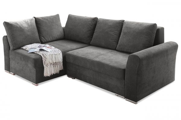 Black Red White Ecksofa Jasper - mit Schlaffunktion - Stone