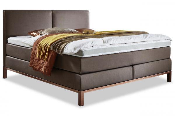 Meise Möbel Luxus Boxspringbett Casadero 180x200 in Kupfer