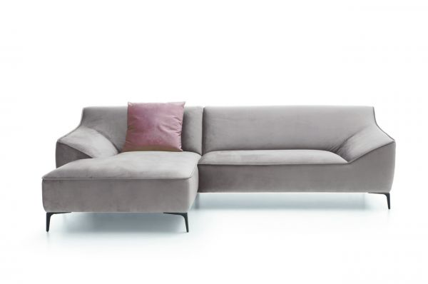 New Look Ecksofa Austin links - hellgrau