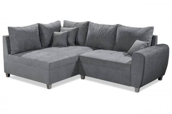 Black Red White Ecksofa Anja links - Anthrazit