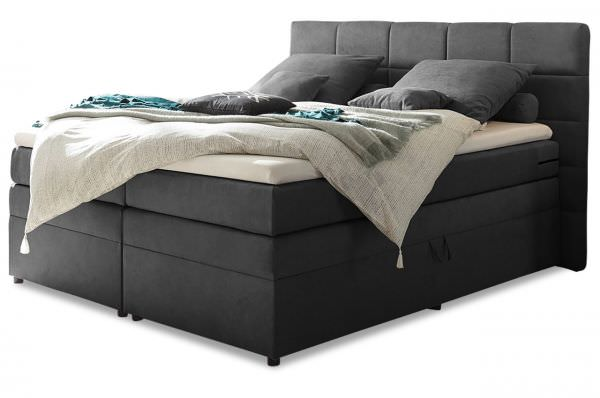 Black Red White Boxspringbett Tacoma 180x200 - Anthrazit