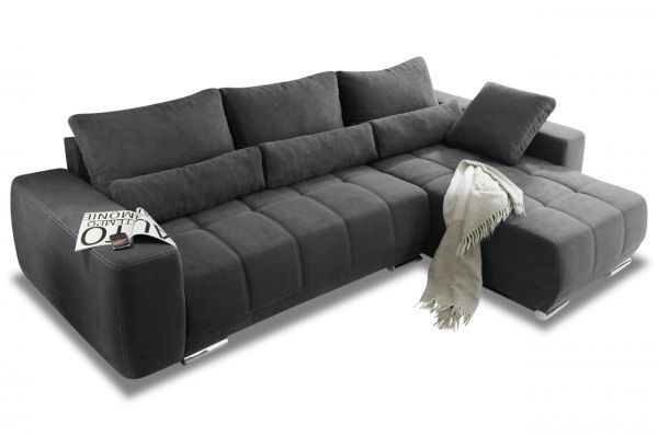 Black Red White Ecksofa Lopez - mit Schlaffunktion