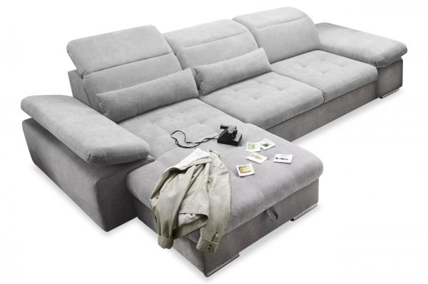 Black Red White Ecksofa Coletta links - mit Schlaffunktion