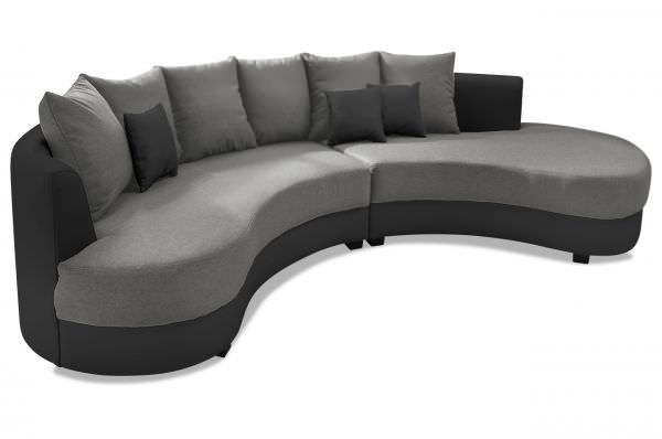 Benformato Bigsofa Limocello - Schwarz Grau