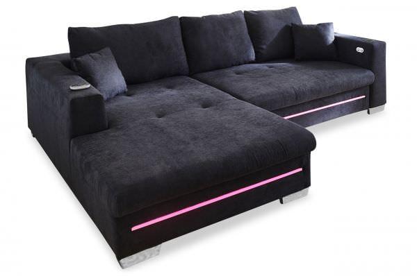 Iwaniccy Ecksofa Aurora links - mit LED und elektrischer Schlaffunktion - wahlweise Ladestation