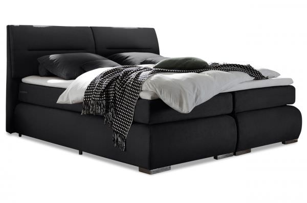 Black Red White Boxspringbett Ecuador 180x200 - Schwarz