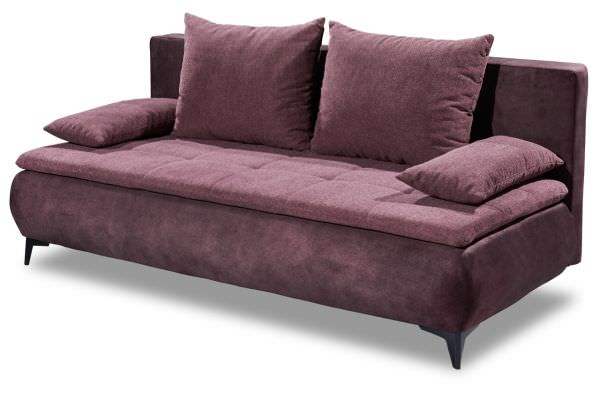 Black Red White Schlafsofa Zoe - mit Schlaffunktion - Aubergine