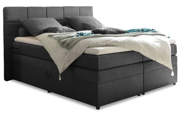 Black Red White Boxspringbett Tacoma 160x200 - Anthrazit