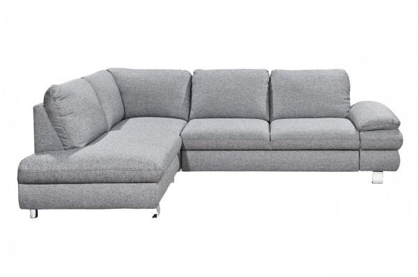 New Look Ecksofa Manhattan links - wahlweise mit Schlaffunktion - Grau