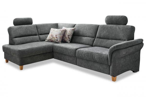Benformato Ecksofa Como links - wahlweise mit Bett oder elektrischer Sitzverstellung