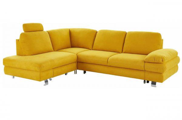 New Look Ecksofa Manhattan links - wahlweise mit Schlaffunktion - Gelb