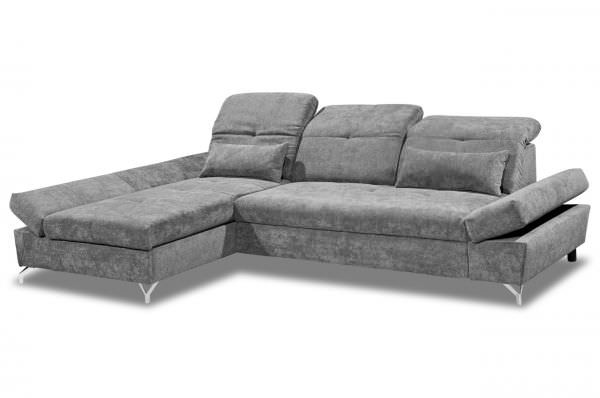 Black Red White Ecksofa Melfi links - mit Schlaffunktion