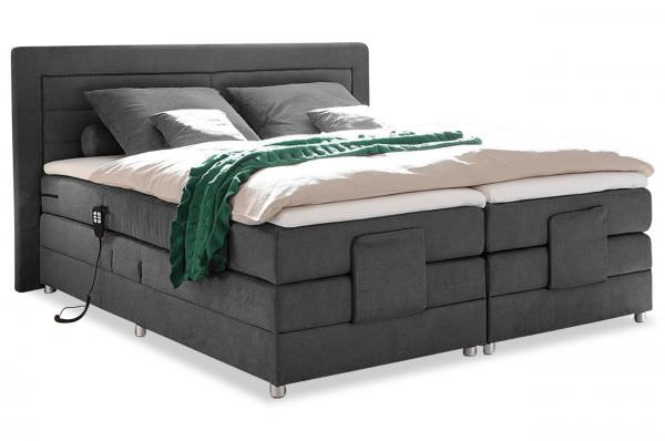Black Red White Boxspringbett Saba - mit Motor