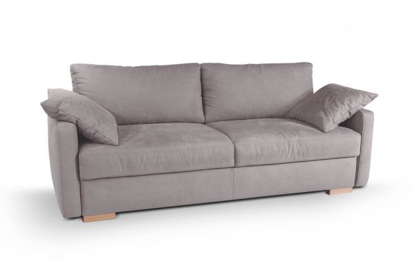 Boxspring Schlafsofa Frisco de Luxe - mit Schlaffunktion - Taupe