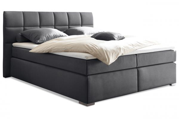 Black Red White Boxspringbett Ravello 160x200 - mit Bettkasten