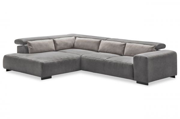 Cotta Ecksofa Side links mit Ottomane