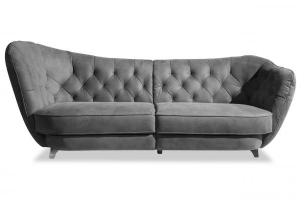 Cotta Chesterfield Bigsofa Retro - wahlweise links oder rechts