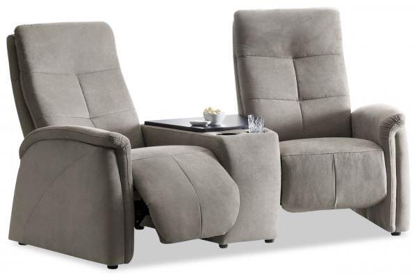 Exxpo Kinosofa 2-Sitzer Tivoli - mit Relaxfunktion und Tisch