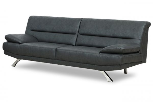 3er-Sitz Sofa Bruno - Anthrazit