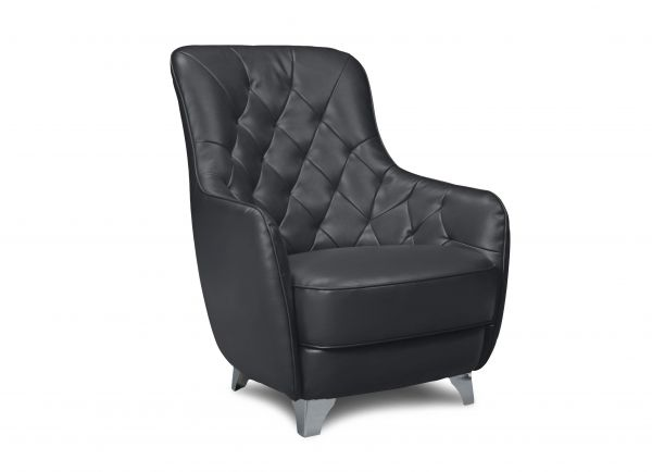 Cotta Chesterfield Sessel Retro - hoch