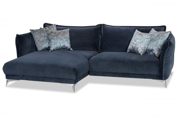 Ecksofa Chronos Links Mit Softsitz Blau