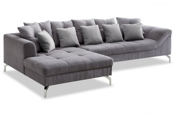 New Look Ecksofa Tender links - grau