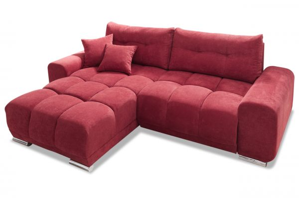 Black Red White Ecksofa Paco - mit Schlaffunktion