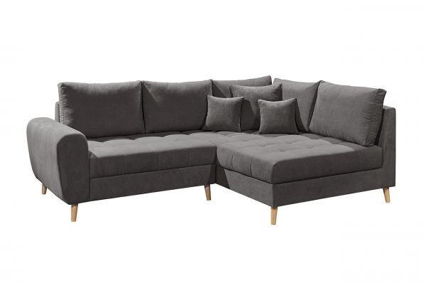 Black Red White Ecksofa Alice rechts - Schlamm Grau