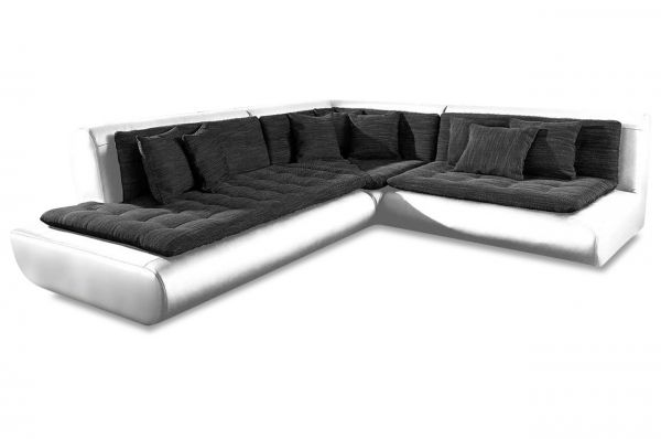 New Look Ecksofa XL Exit I links - Weiss Anthrazit