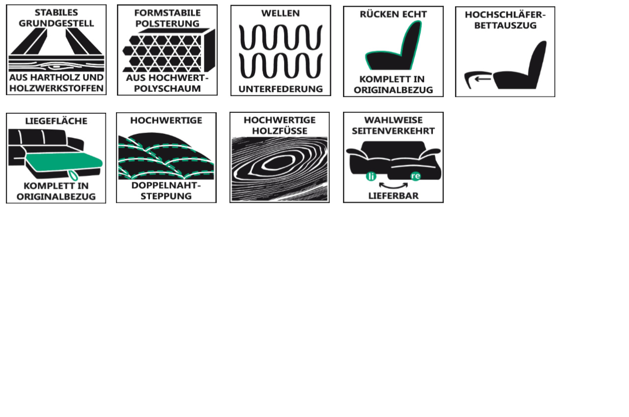 ecksofa xl durban links mit schlaffunktion grau. Black Bedroom Furniture Sets. Home Design Ideas