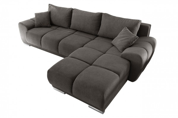 Black Red White Ecksofa Anton - mit Schlaffunktion