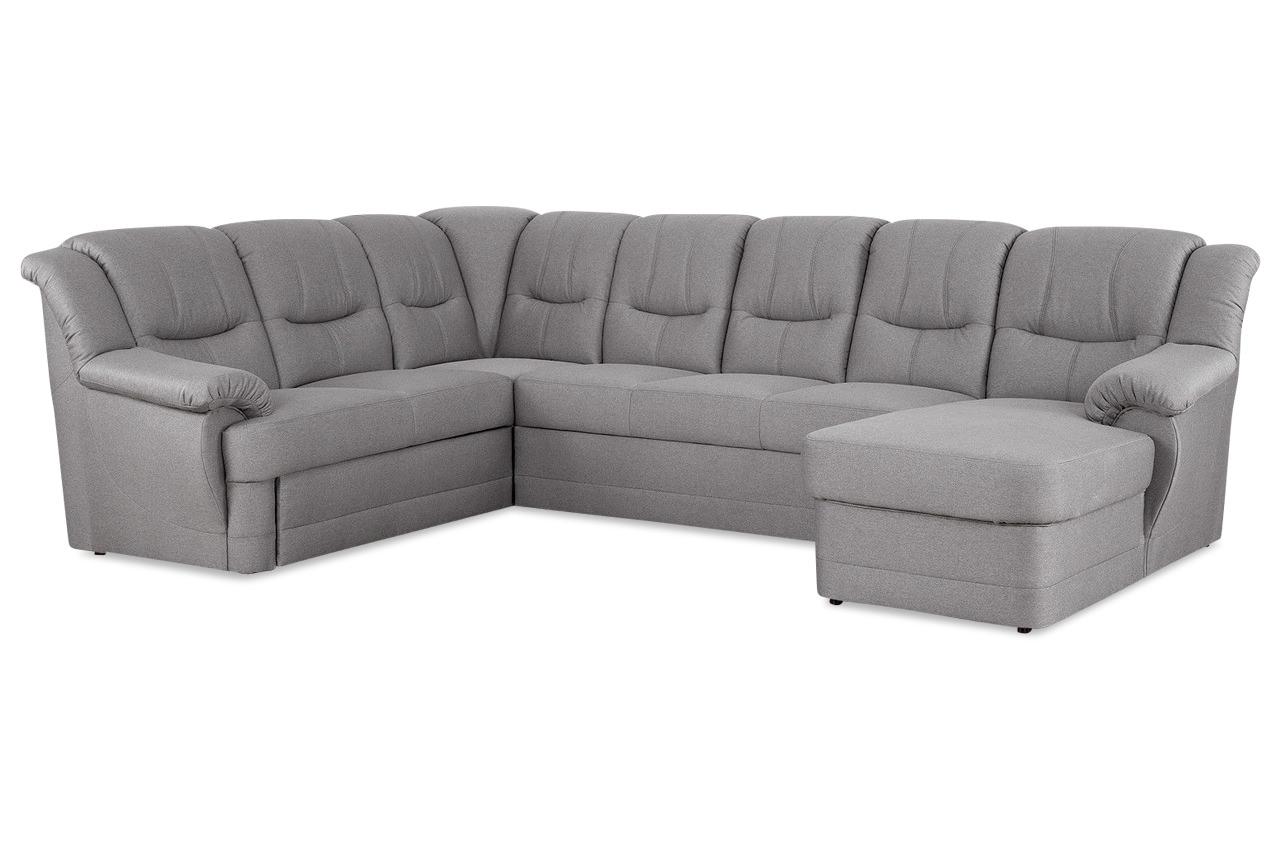 wohnlandschaft orion links mit relax und wahlweise mit schlaffunktion grau. Black Bedroom Furniture Sets. Home Design Ideas