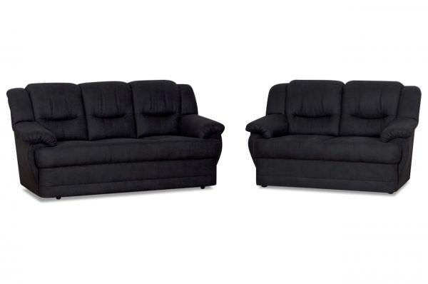 Garnitur 3er- und 2er- Sofa Orion - wahlweise mit Sessel - Anthrazit