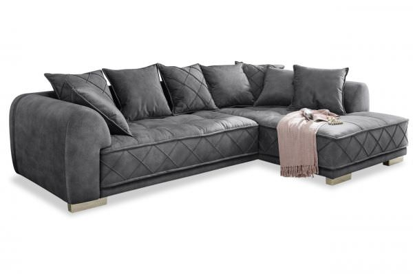Black Red White Ecksofa Sentina - Samtoptik