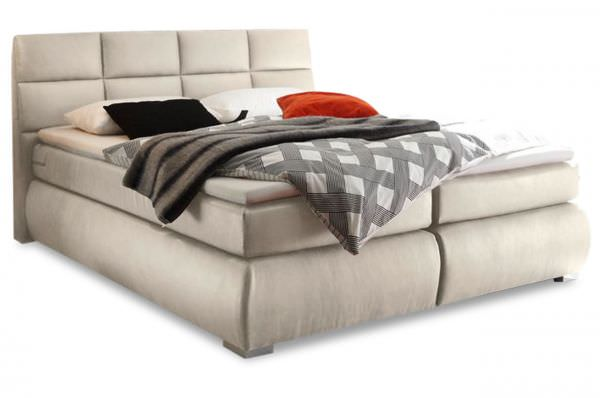 Black Red White Boxspringbett Kosali 180x200 - Creme