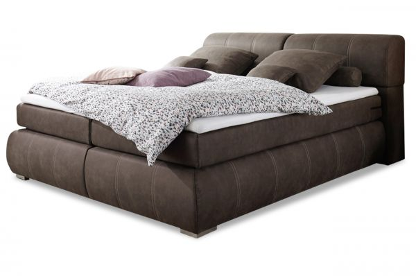 Black Red White Boxspringbett Felina 180x200 - Coffee
