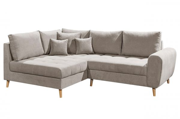 Black Red White Ecksofa Alice links - Sand Beige