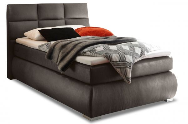 Black Red White Boxspringbett Kosali 140x200
