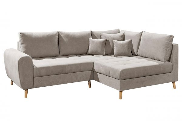 Black Red White Ecksofa Alice rechts - beige