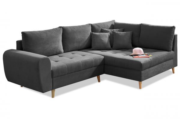 Black Red White Ecksofa Alice rechts - Anthrazit