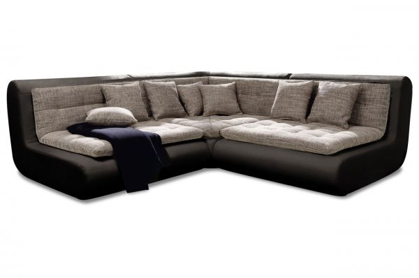New Look Ecksofa Exit I - Schwarz Anthrazit
