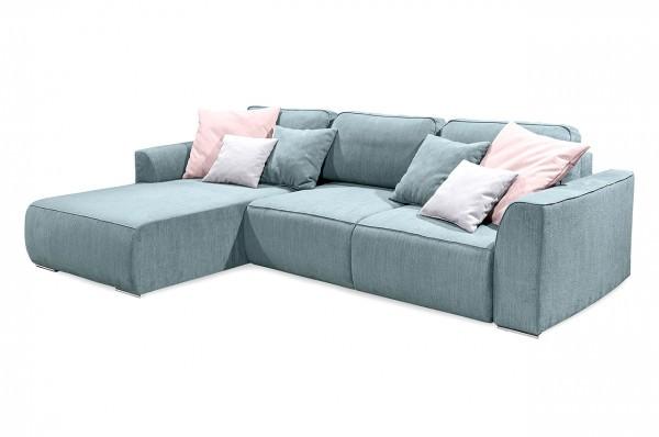 blackredwhite ecksofa lazy mit schlaffunktion hellblau. Black Bedroom Furniture Sets. Home Design Ideas