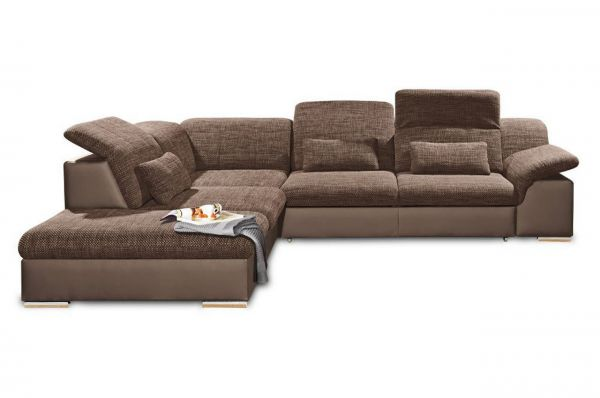 Black Red White Ecksofa XL Move links - mit Schlaffunktion - Braun